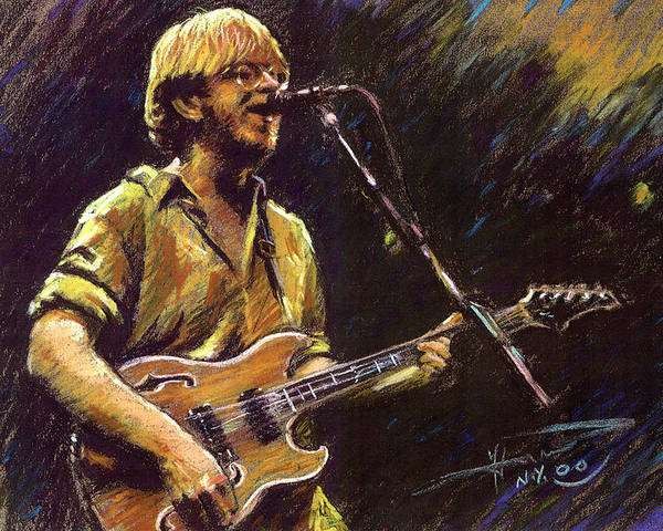 Phish Poster featuring the pastel Phish by Ylli Haruni