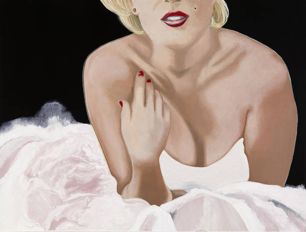 Marilyn Poster featuring the painting Photo Shoot by Marcella Lassen