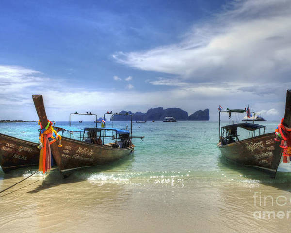 Phuket Poster featuring the photograph Phuket Koh Phi Phi Island by Bob Christopher