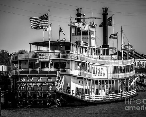 America Poster featuring the photograph Picture Of Natchez Steamboat In New Orleans by Paul Velgos