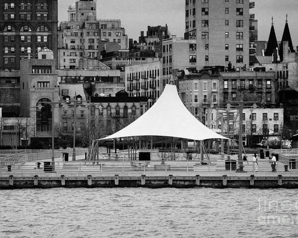 Usa Poster featuring the photograph Pier 45 Hudson River Park New York City by Joe Fox