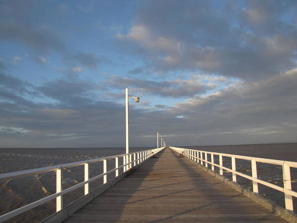 Pier Poster featuring the photograph Pier And Shadows by Elizabeth Hardie