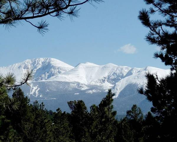 Colorado Poster featuring the photograph Pikes Peak After A Snowstorm by Marilyn Burton