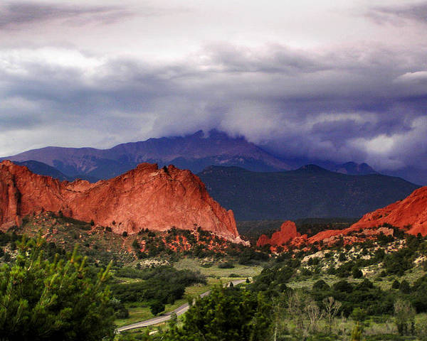Pikes Peak Photographs Poster featuring the photograph Pikes Peak Storm by Rod Seel