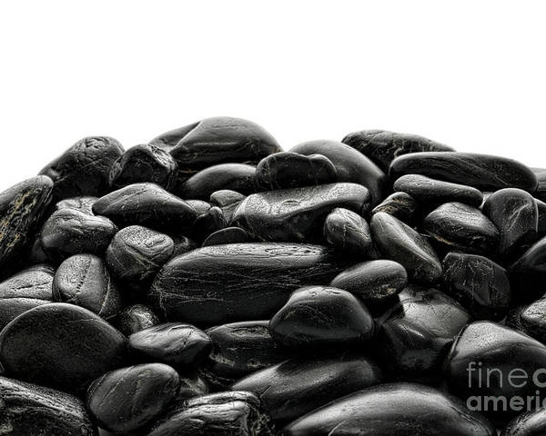 Stones Poster featuring the photograph Pile Of Stones by Olivier Le Queinec