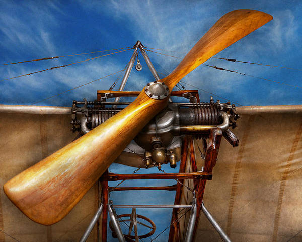 Plane Poster featuring the photograph Pilot - Prop - They Don't Build Them Like This Anymore by Mike Savad
