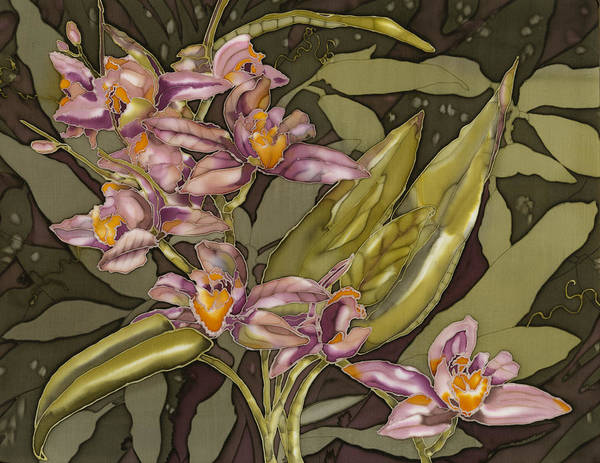 Flowers Poster featuring the painting Pink Orchids by Artimis Alcyone