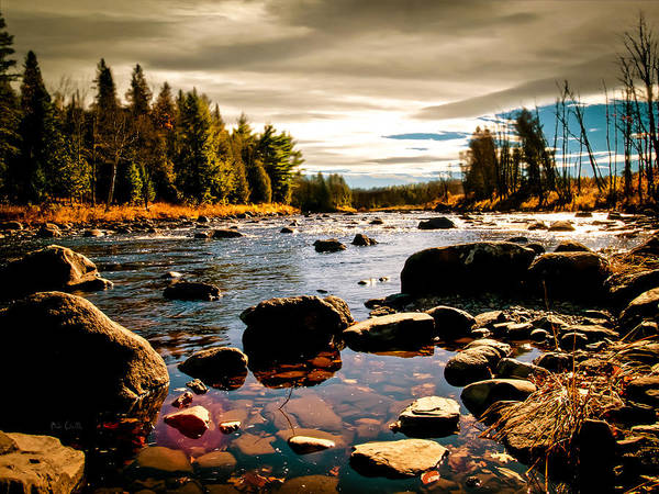 Piscataquis River Poster featuring the photograph Piscataquis River Dover-foxcroft Maine by Bob Orsillo