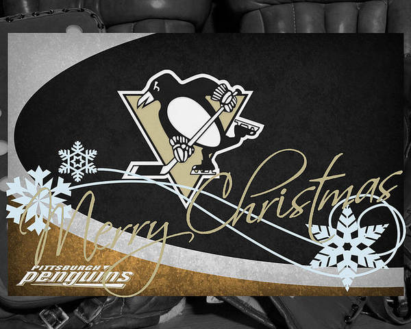 Penguins Poster featuring the photograph Pittsburgh Penguins Christmas by Joe Hamilton