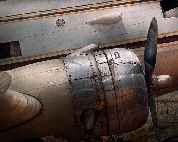 Plane Poster featuring the photograph Plane - A Little Rough Around The Edges by Mike Savad