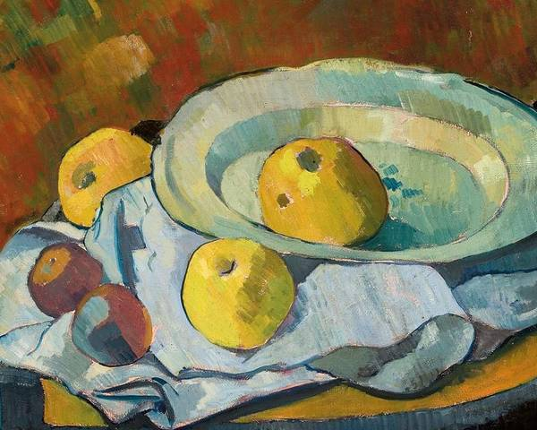 Still-life Poster featuring the painting Plate Of Apples by Paul Serusier
