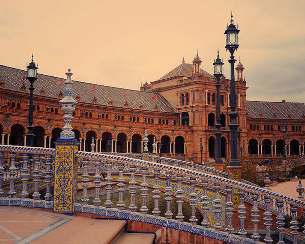 Seville Poster featuring the photograph Plaza De Espana 3. Seville by Jenny Rainbow