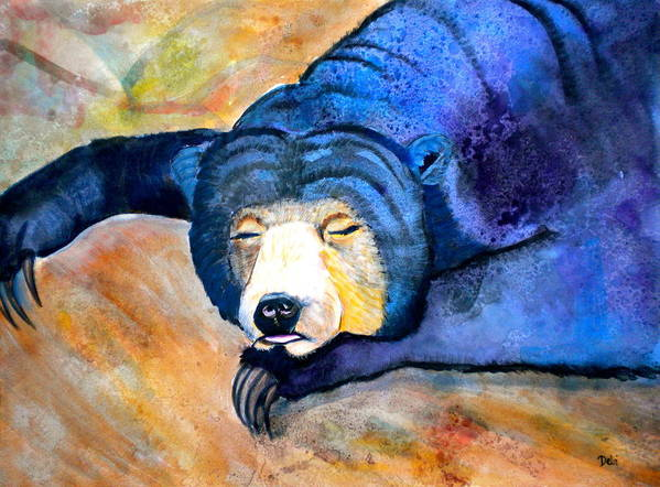 Pleasant Dreams Poster featuring the painting Pleasant Dreams by Debi Starr