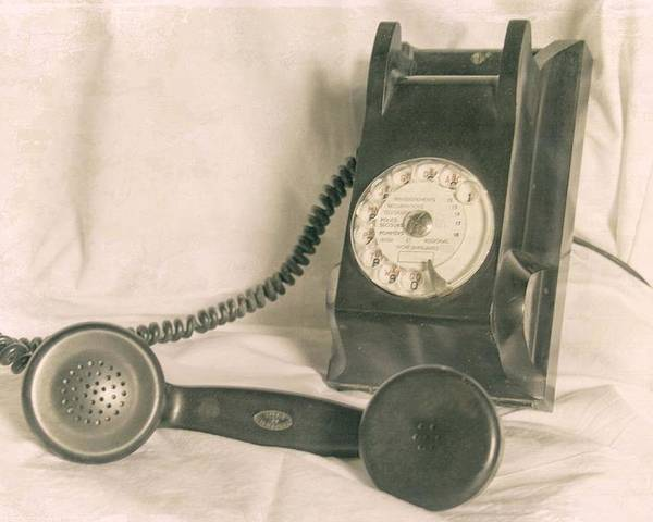 Vintage Telephone Poster featuring the photograph Please Call by Georgia Fowler