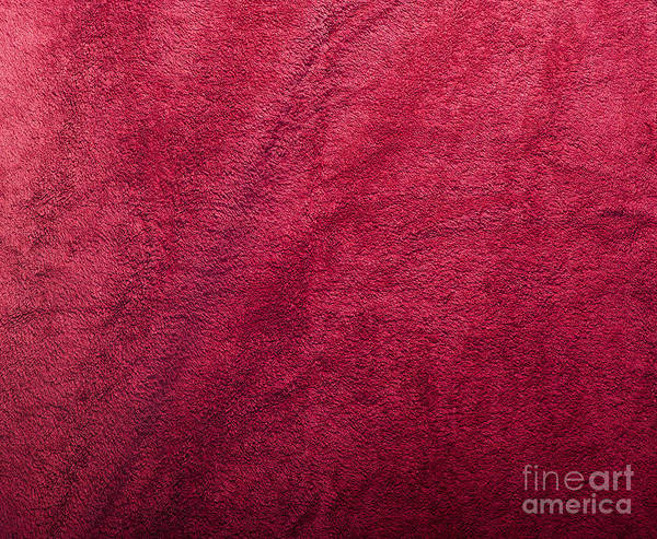 Abstract Poster featuring the photograph Plush Red Texture by Tim Hester