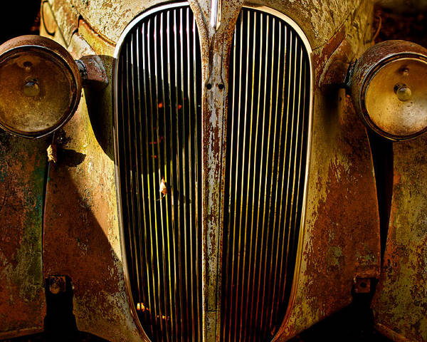 Car Poster featuring the photograph Plymouth Grill by Portlens Photography