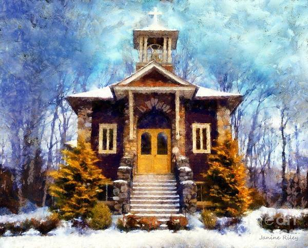 Chapel Poster featuring the photograph Poconos Country Church by Janine Riley