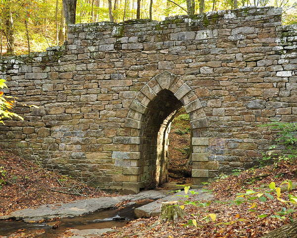 Landscape Poster featuring the photograph Poinsett Bridge by Sonja Dover
