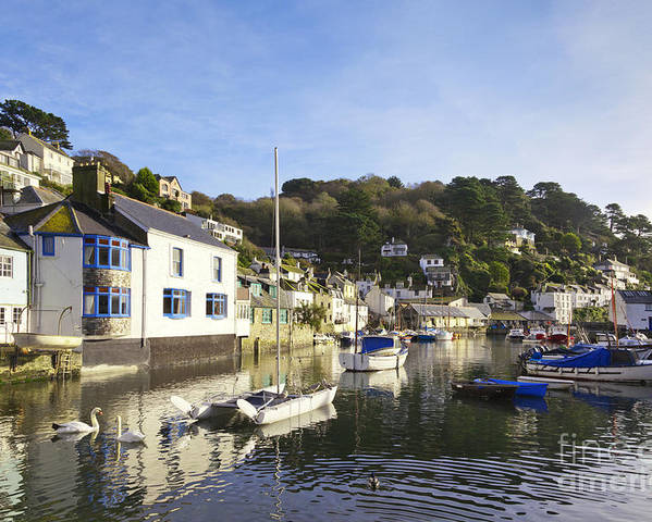 Boats Poster featuring the photograph Polperro Cornwall England by Colin and Linda McKie