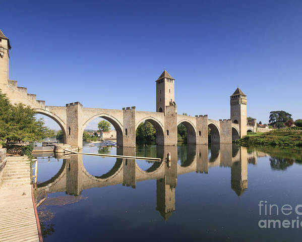 Bridge Poster featuring the photograph Pont Valentre Cahors France by Colin and Linda McKie