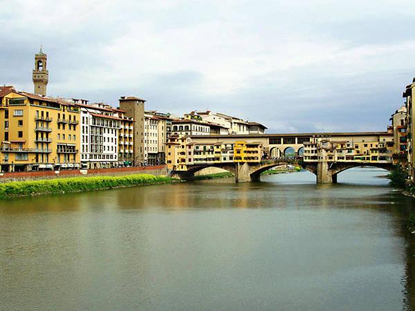 Ponte Vecchio Poster featuring the photograph Ponte Vecchio 1 by Ellen Henneke