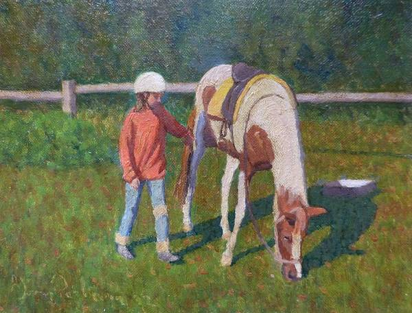 Pony Poster featuring the painting Pony by Terry Perham