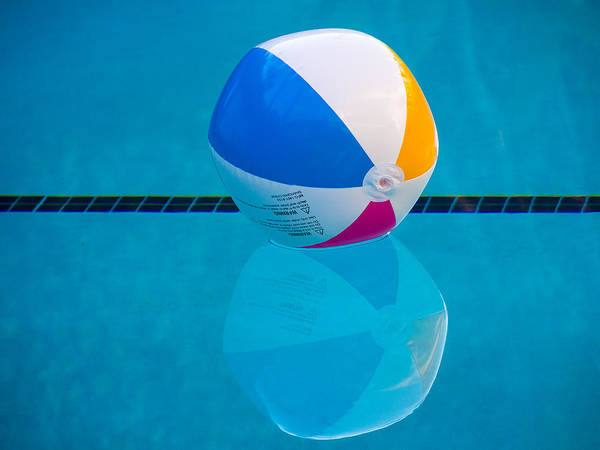Beach Ball Poster featuring the photograph Pooltime by Robin Zygelman