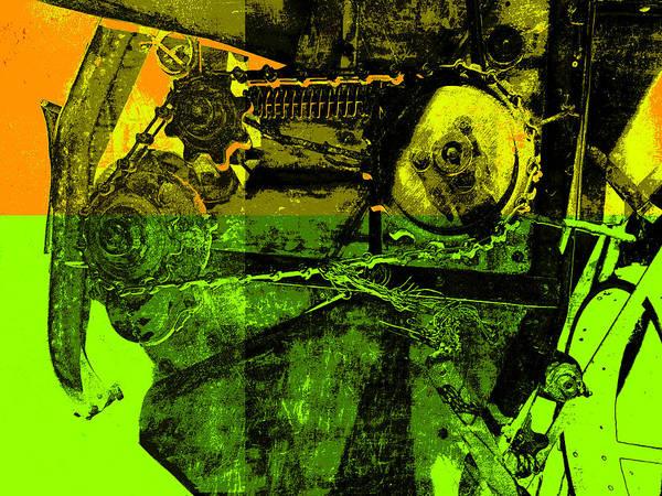 Pop Art Poster featuring the digital art Pop Art Style Machine Gears by Ann Powell