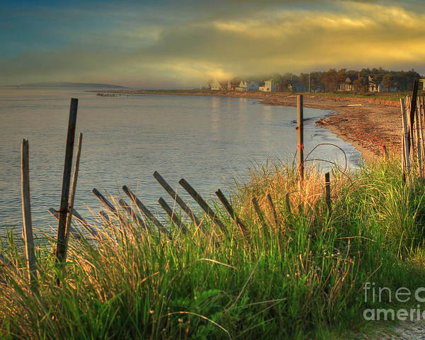 Popham Beach.maine Poster featuring the photograph Popham Beach Morning by Brenda Giasson