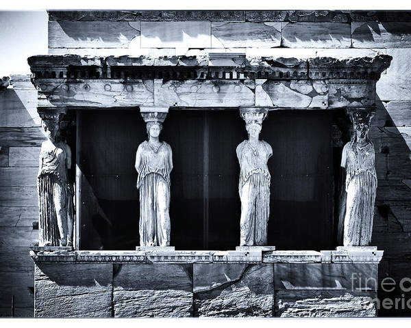 Porch Of The Caryatids Poster featuring the photograph Porch Of The Caryatids by John Rizzuto