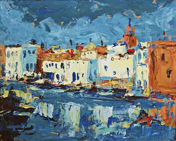 Port De Bizerte Poster featuring the painting Port De Bizerte by Brian Simons