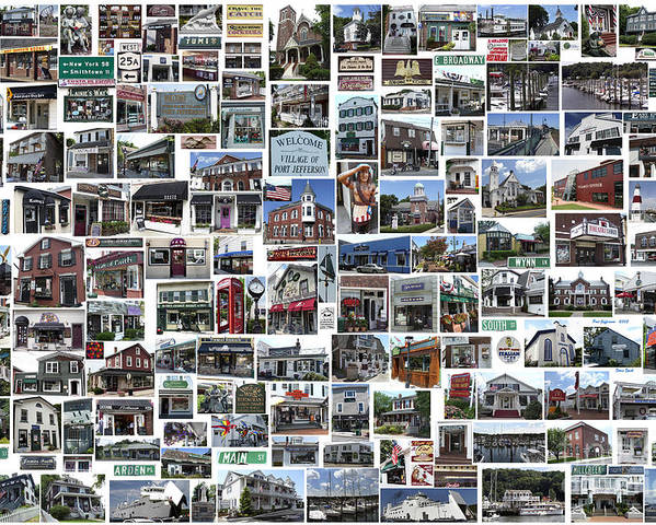 Port Jefferson Poster featuring the photograph Port Jefferson Photo Collage by Steven Spak