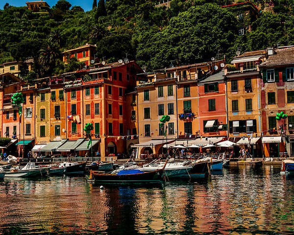 Ligurian Poster featuring the photograph Portofino Italy by Xavier Cardell