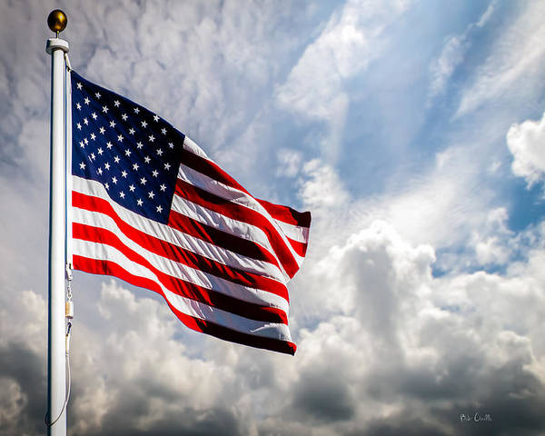 Usa Poster featuring the photograph Portrait Of The United States Of America Flag by Bob Orsillo