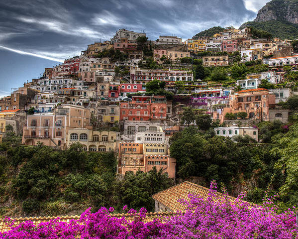Italy Poster featuring the photograph Positano by Uri Baruch