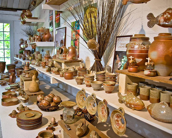 Europe Poster featuring the photograph Pottery In La Borne by Oleg Koryagin