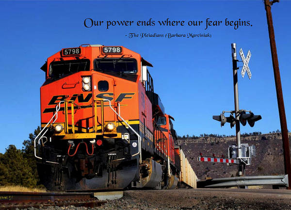 Quotation Poster featuring the photograph Power Ends by Mike Flynn