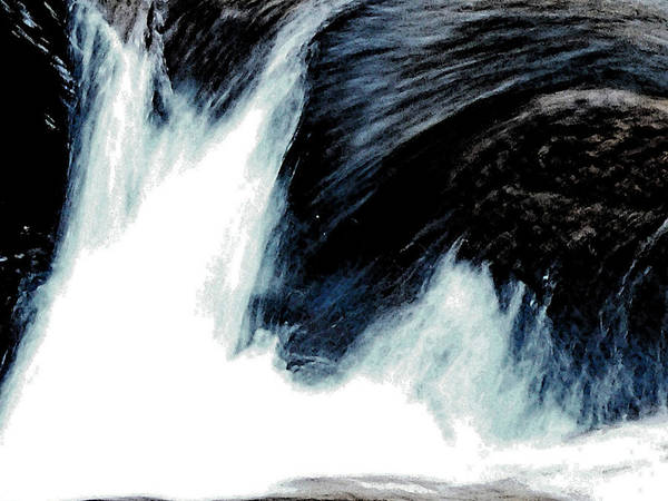 Abstract Photography Poster featuring the photograph Power Of Water by Ellen Stockdale Wolfe