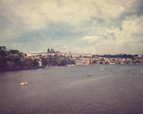 Prague Poster featuring the photograph Prague Days II by Taylan Apukovska