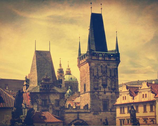 Prague Poster featuring the photograph Praha by Taylan Apukovska