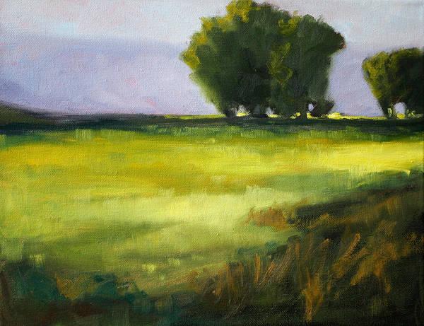 Prairie Poster featuring the painting Prairie Light by Nancy Merkle