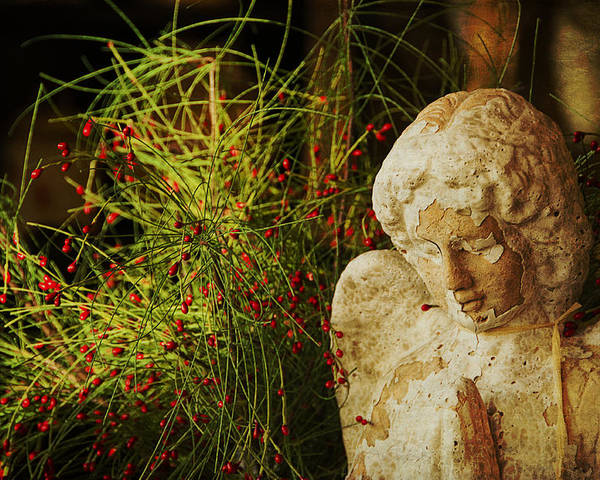 Angel Poster featuring the photograph Praying For Peace by Terry Rowe