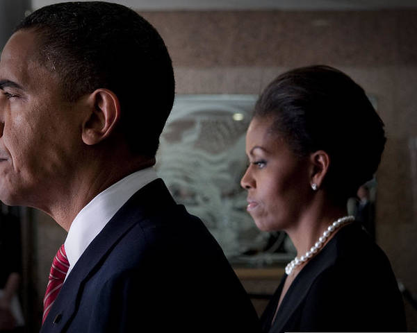 Barack Obama Poster featuring the photograph President And Mrs Obama by Mountain Dreams