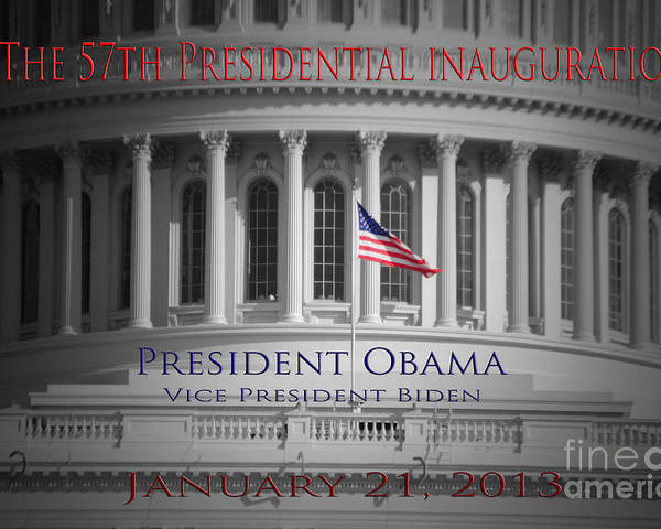 Barack Poster featuring the photograph President Obama Inauguration by Jost Houk