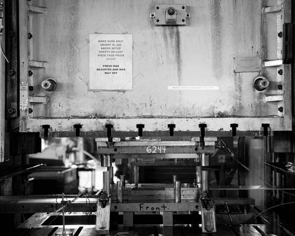 Manufacturing Poster featuring the photograph Press 1 by Mike Tanner