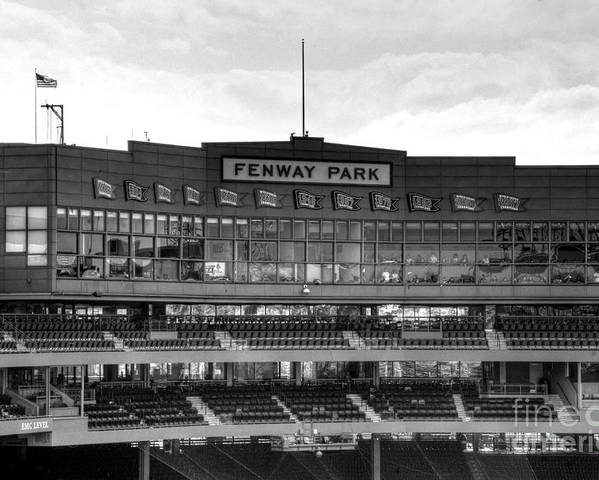 Fenway Park Poster featuring the photograph Press Box by Jonathan Harper