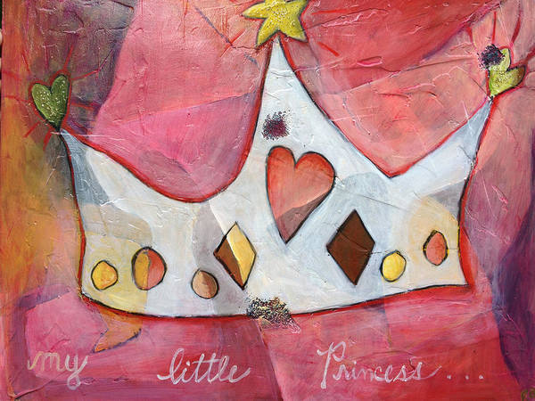Princess Poster featuring the painting Princess by Angela Rae