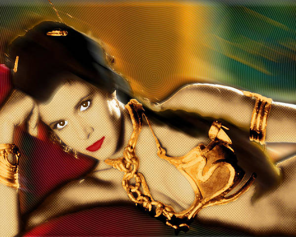 Princess Leia Organa Poster featuring the painting Princess Leia Star Wars Episode Vi Return Of The Jedi 1 by Tony Rubino