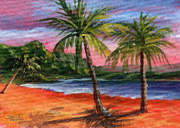 Princeville Poster featuring the painting Princeville Kauai by Darice Machel McGuire