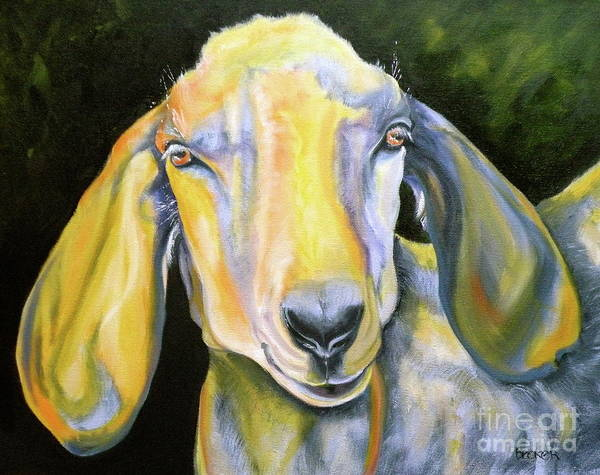 Goat Poster featuring the painting Prize Nubian Goat by Susan A Becker